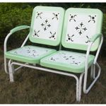 4D Concepts Metal Retro Glider - Lime and White Metal 4DC-71350