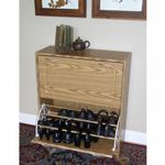 4D Concepts Oak Deluxe Double Shoe Cabinet