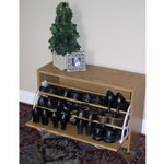 4D Concepts Oak Deluxe Single Shoe Cabinet