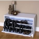 4D Concepts White Deluxe Single Shoe Cabinet