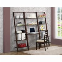 4D Concepts Arlington Wall Shelf with Desk - Dark Cappuccino 4DC-89848