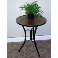 4D Concepts Metal Slate Slate Round Top Coffee Table 4DC-601404