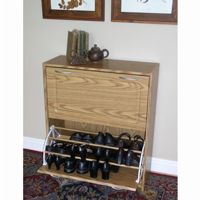 4D Concepts Oak Deluxe Double Shoe Cabinet 4DC-76155