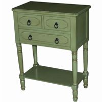 4D Concepts Simplicity 3 Drawer Chest - Green 4DC-550397