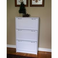 4D Concepts White Deluxe Triple Shoe Cabinet 4DC-76453