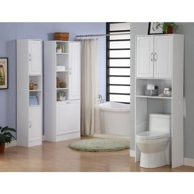 4D Concepts Bathroom 1 door/1 Drawer Base Cabinet - White 4DC-76425