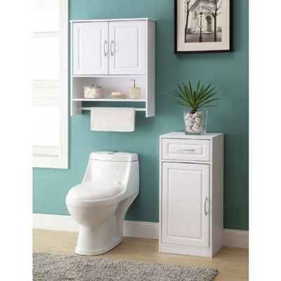 4D Concepts Bathroom 2 Door Wall Cabinet - White 4DC-76420