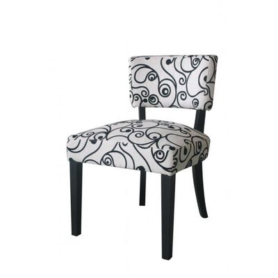4D Concepts Cosmo Oversize Accent Chair - Black and White Swirl Fabric 4DC-813859