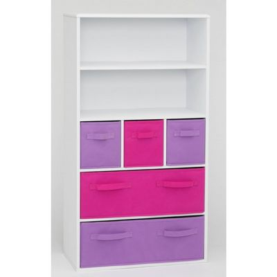 4D Concepts Girls Storage Bookcase - White 4DC-12455