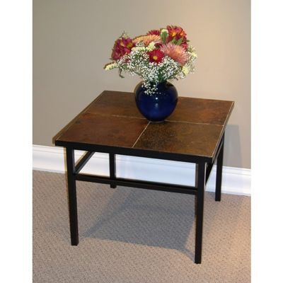 4D Concepts Metal Slate End Table with Slate Top 4DC-601624