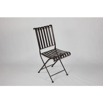4D Concepts Rounded Metal Folding Chair - Metal 4DC-55582