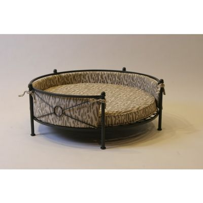 4D Concepts Rounded Pet Bed - Smoked Metal 4DC-11104