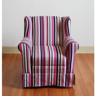 4D Concepts Striped Girls Wingback Chair 4DC-K3837-A192