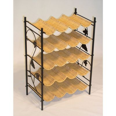 4D Concepts Wicker Wine Rack - Wicker / Metal 4DC-263015
