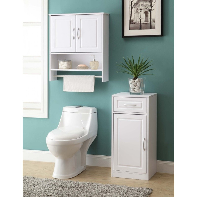 4d concepts bathroom 2 door wall cabinet white