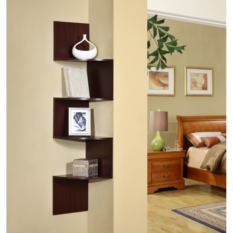 4D Concepts Hanging Corner Storage - Cherry