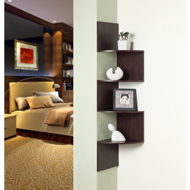 4D Concepts Hanging Corner Storage - Chocolate