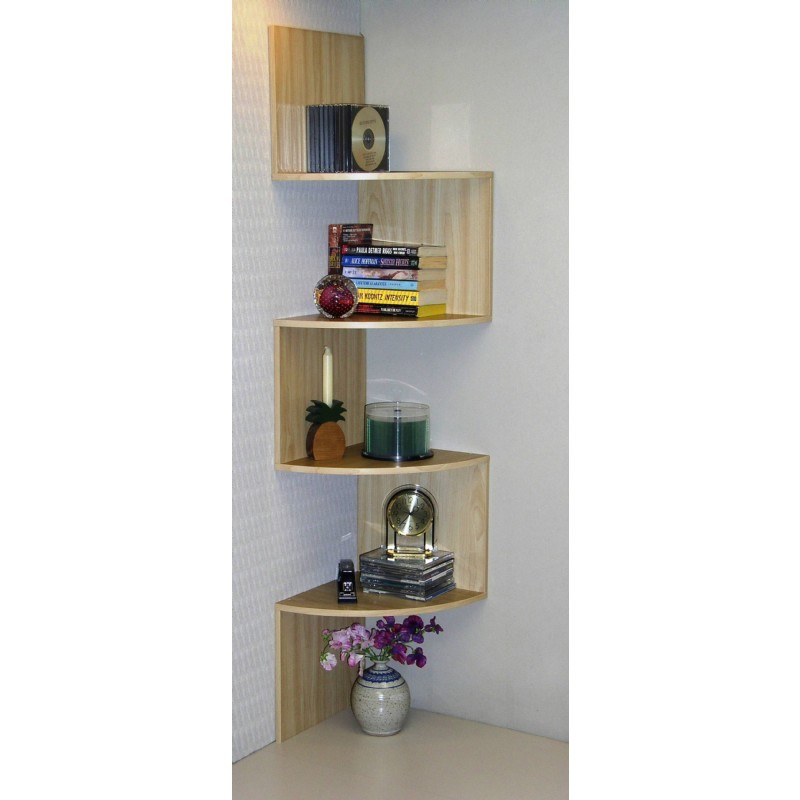 4D Concepts Hanging Corner Storage - Maple