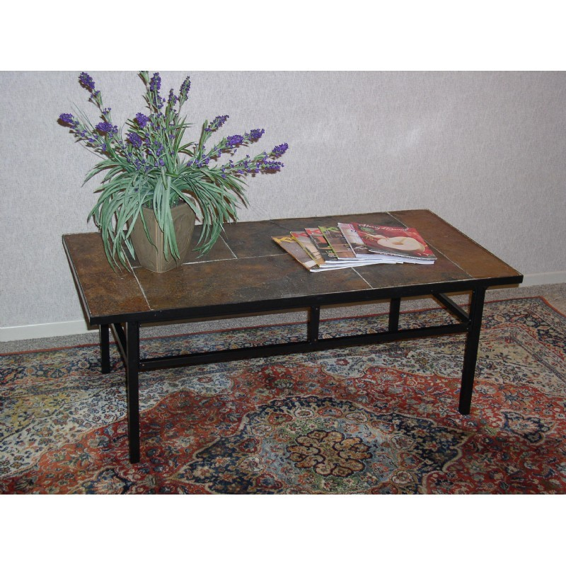 4d Concepts Metal Slate Coffee Table With Slate Top 4dc 601634 Cozydays