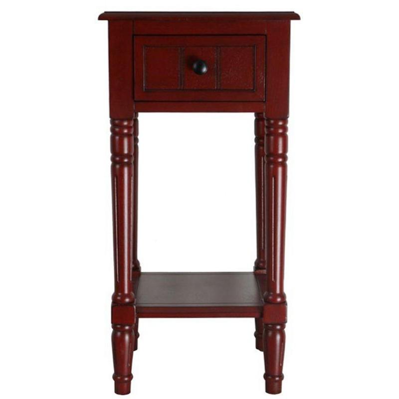 4d Concepts Simplicity End Table Red 4dc 570715 Cozydays