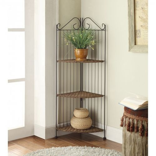 4D Concepts 3 Tier Corner Bookcase