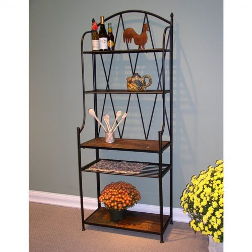 4D Concepts Metal Slate Bakers Rack with Slate Top 4DC-601512