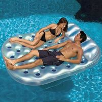 Inflatable Double French Pool Mattress PM83392