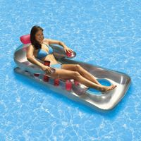 Inflatable French Classic Pool Lounger Pink PM85660