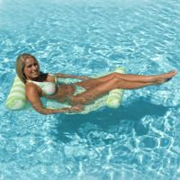 Water Hammock Inflatable Pool Lounger - Green PM70743