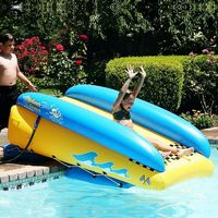 Inflatable water and pool slides