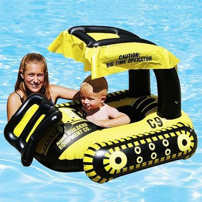 Bulldozer Infant Pool Float Pm81552 Cozydays