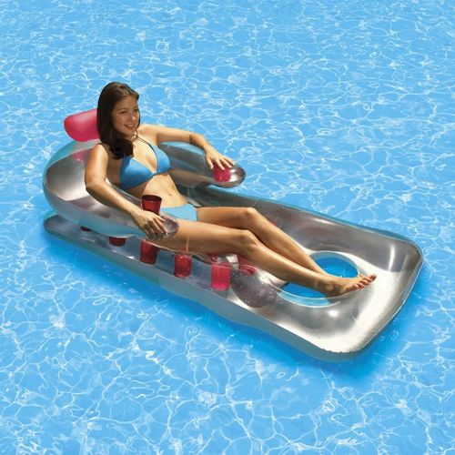 Inflatable French Classic Pool Lounger Pink PM85660-PINK
