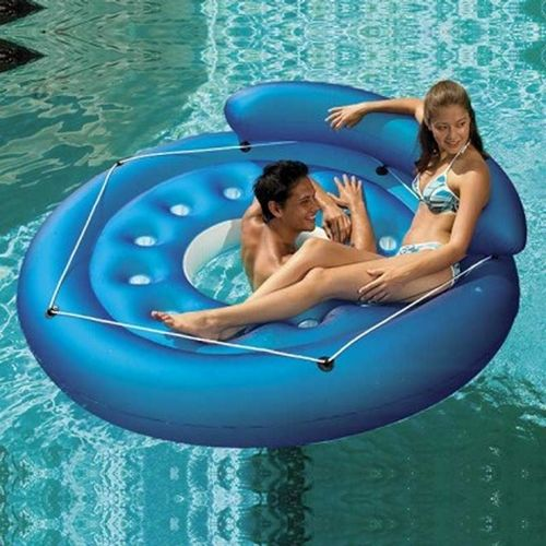 Inflatable French Pocket Convertible™ Island PM83660-BLUE