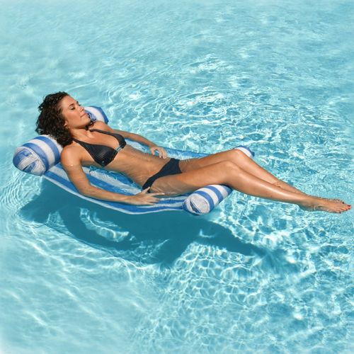 Water Hammock Inflatable Pool Lounger - Blue PM70743-BLUE