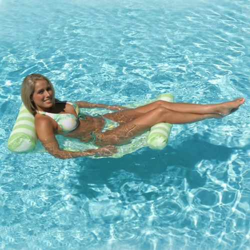 Water Hammock Inflatable Pool Lounger - Green PM70743-GREEN