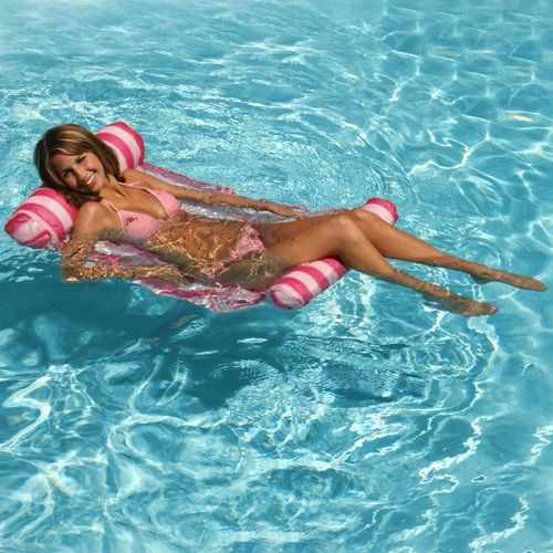 Water Hammock Inflatable Pool Lounger - Pink PM70743-PINK
