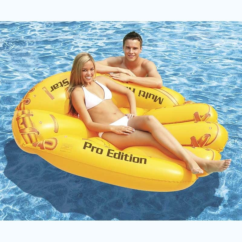 Party Water Floats for 6 People: Baseball Glove Inflatable Float