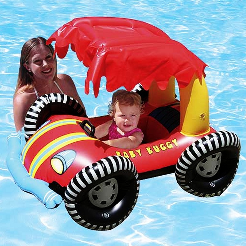 Cloth Covered Pool Floats: Baby Seat Buggy Rider Pool Float with Shade