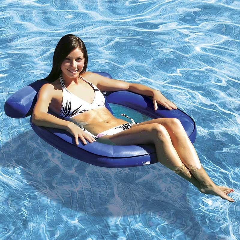 6 8 People Inflatable Floats: Coastal Breeze Inflatable Mesh Chair