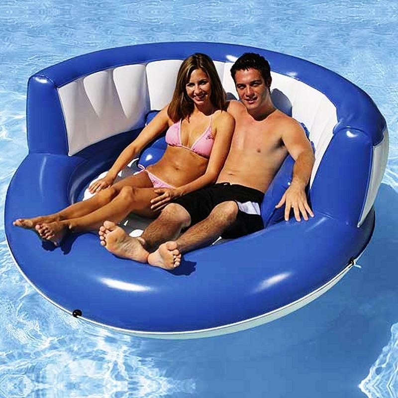 Pool & Beach: Inflatable Pool Fun: Cuddle Island Float
