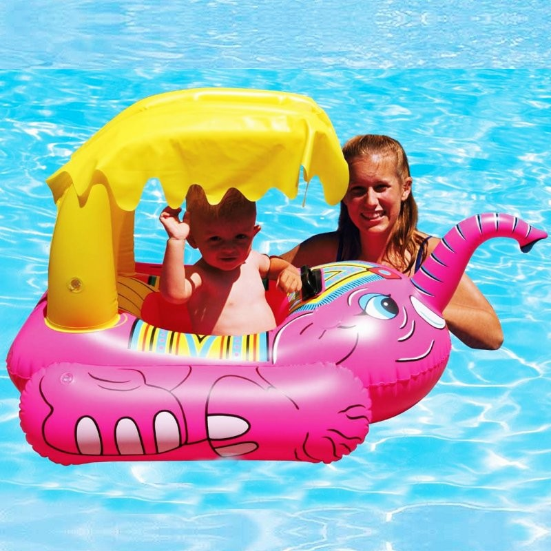 Baby Pool Float Elephant with Shade