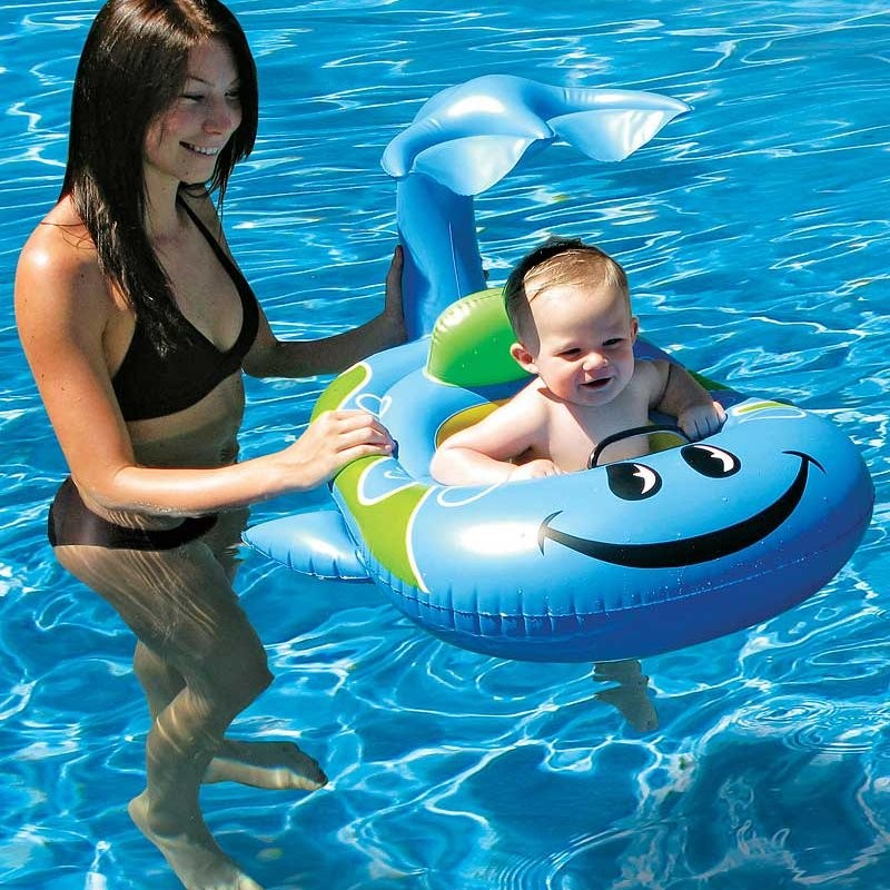 Blue Whale Baby Pool Float