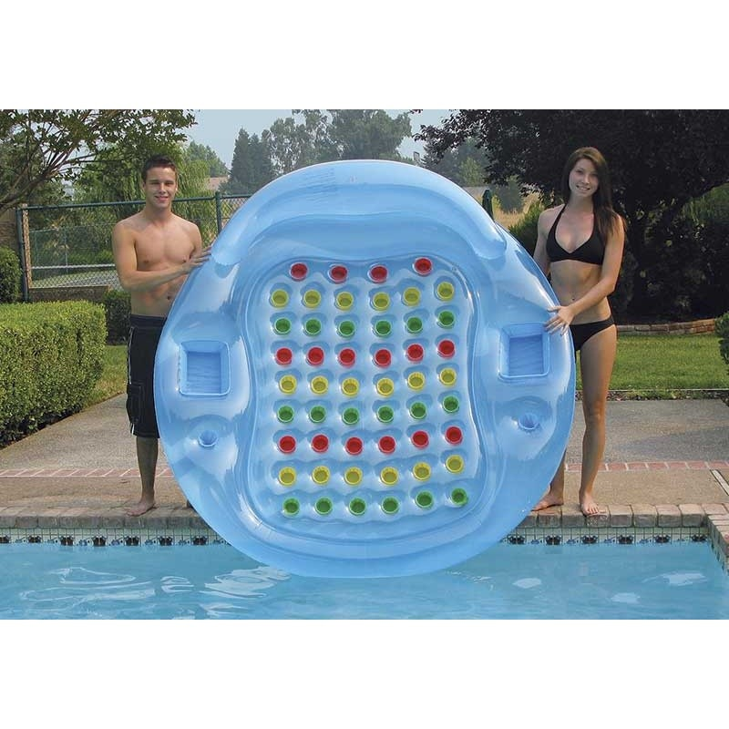 Jumbo French Cooling Island Inflatable : Inflatable Pool Floats