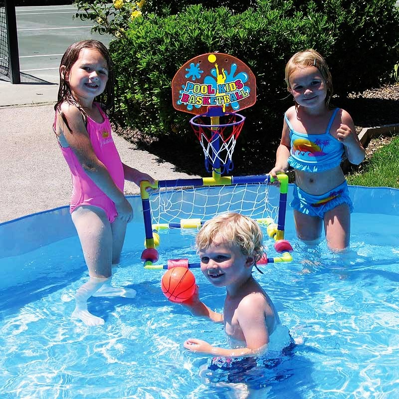 Battery Operated Pool Toys: Kids Mini Water Basketball and Water Polo