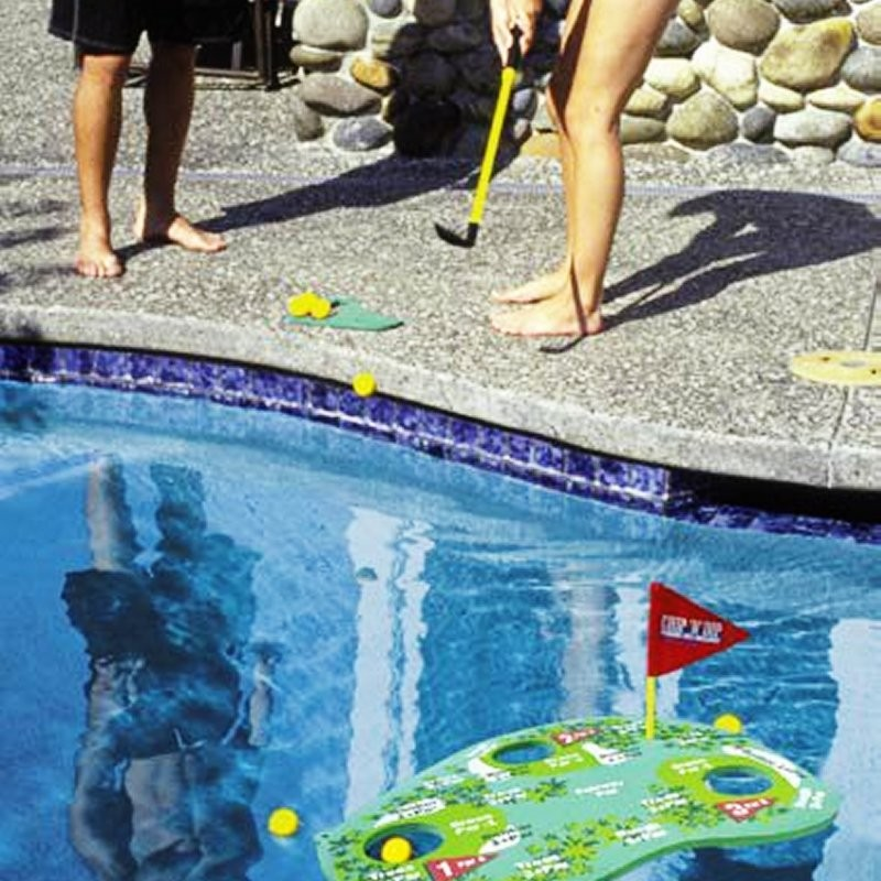 Odd Shape Floating Pool Covers: Floating Poolside Challenge Golf Game