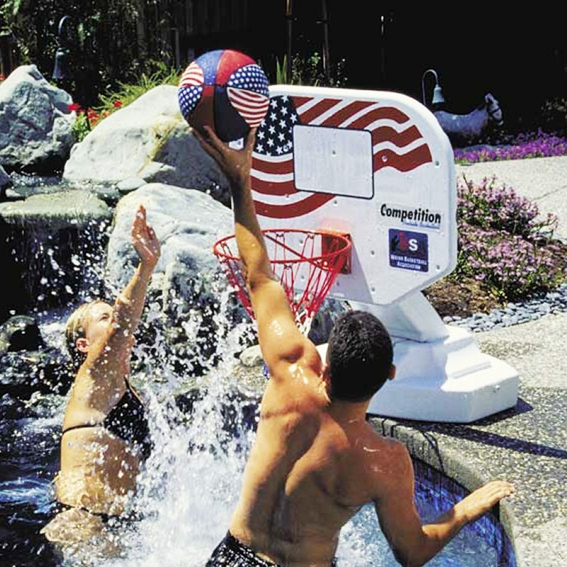 Pool & Beach: Pool Toys & Games: USA Poolside Basketball Game