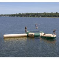 Aqua Jump Eclipse150 Northwood's Water Trampoline 15 feet Diameter with Launch and Log RS00153
