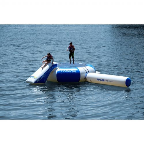 Splash Zone Plus 16 ft. Water Bouncer with Slide, Log and EZ-Up Boarding Platform RS02553