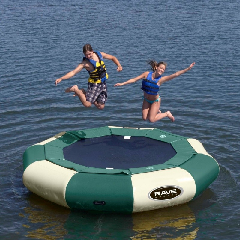 Lake Trampolines, Bouncers, Rafts: Aqua Jump Eclipse120 Northwood's Water Trampoline