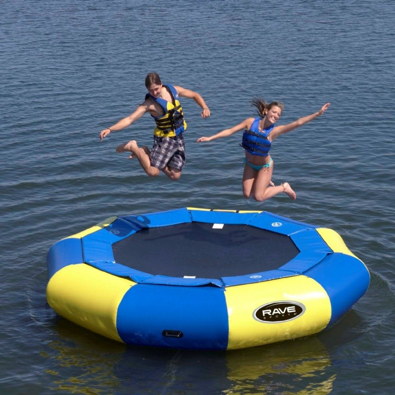 Lake Trampolines, Bouncers, Rafts: Aqua Jump Eclipse120 Water Trampoline